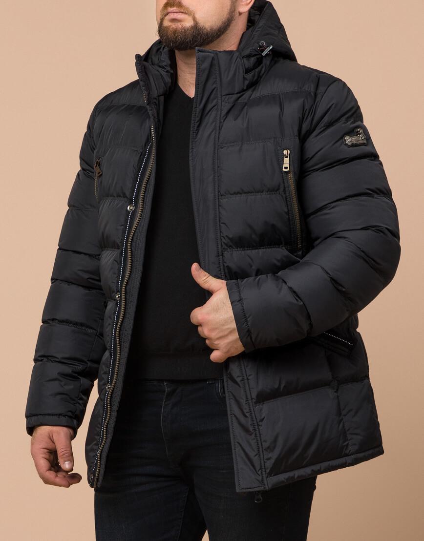 Куртка большого размера графитовая для мужчин зимняя модель 12952 оптом фото 2