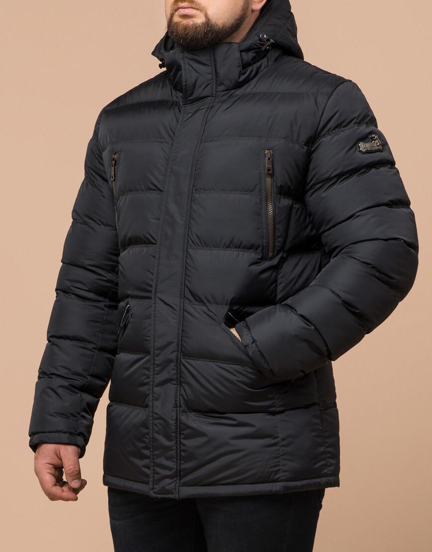 Куртка большого размера графитовая для мужчин зимняя модель 12952 оптом фото 1