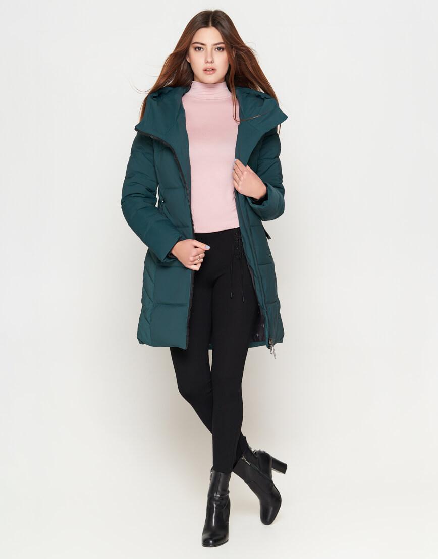 Женская утепленная бирюзовая куртка модель 25085 фото 2