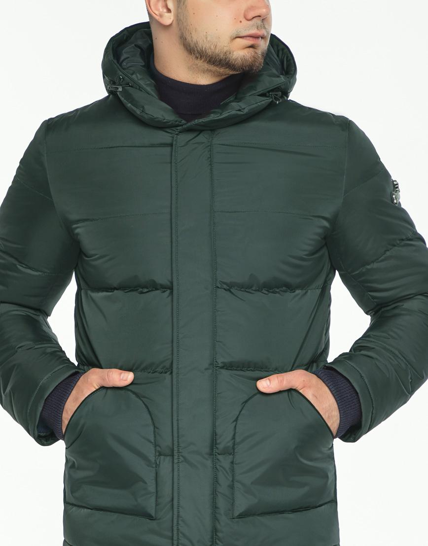 Куртка темно-зеленая фирменная зимняя модель 27544 фото 5