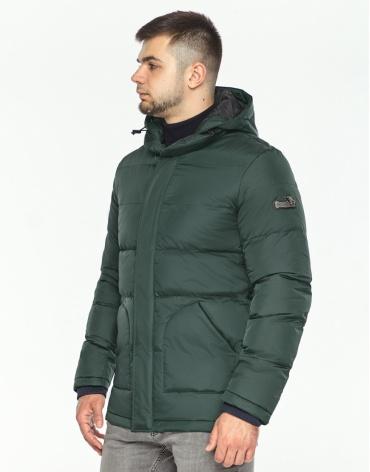 Куртка темно-зеленая фирменная зимняя модель 27544 фото 1