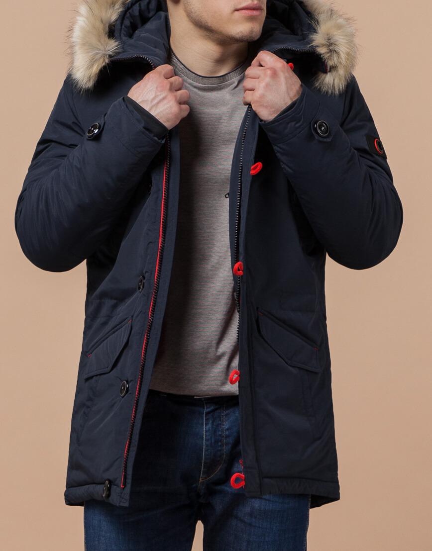 Сине-красная мужская зимняя парка модель 38230 оптом