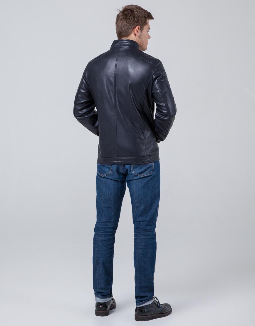 Темно-синяя современная куртка молодежная модель 3645