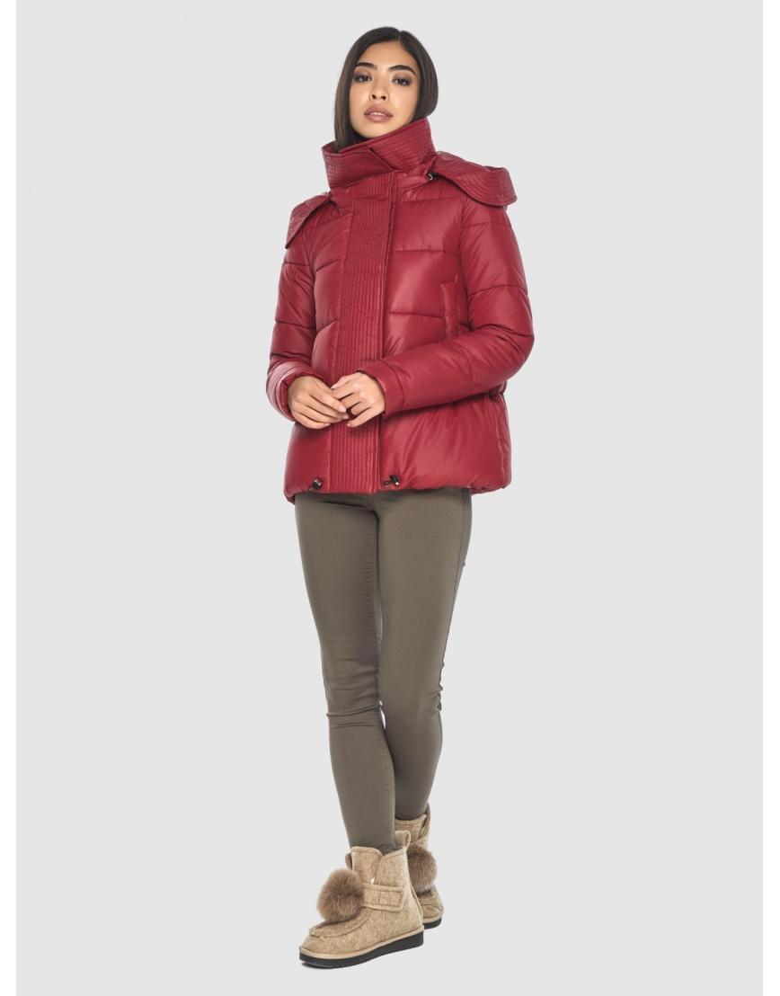 Укороченная подростковая куртка Moc красная зимняя M6981 фото 2