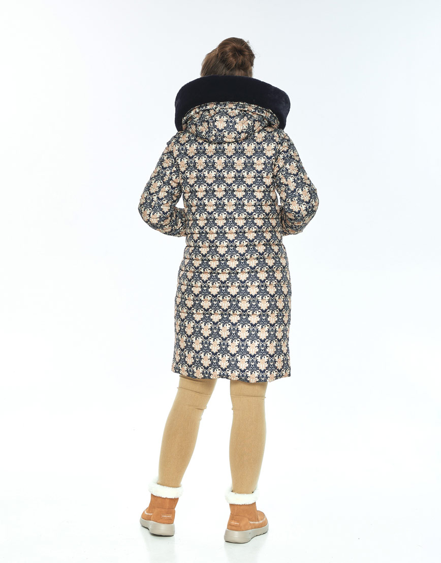 Практичная зимняя куртка с рисунком женская Ajento 24138 фото 3