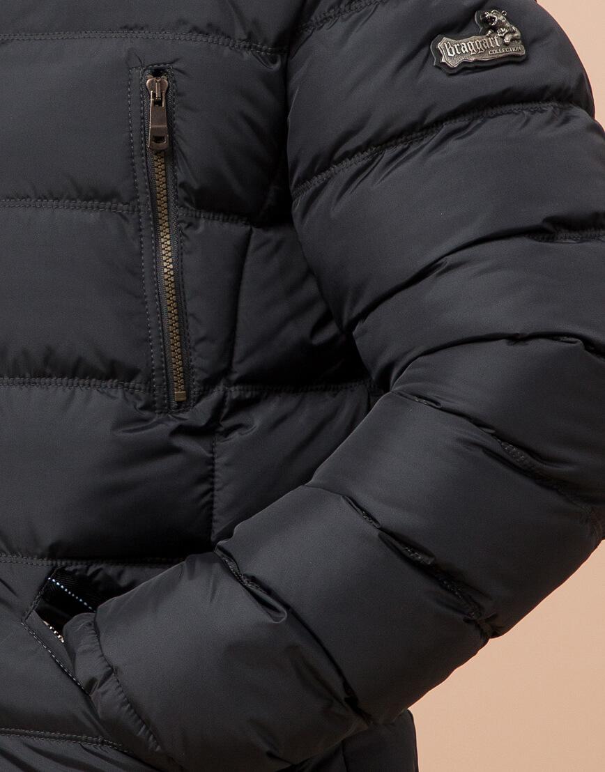 Куртка большого размера графитовая для мужчин зимняя модель 12952 оптом фото 5
