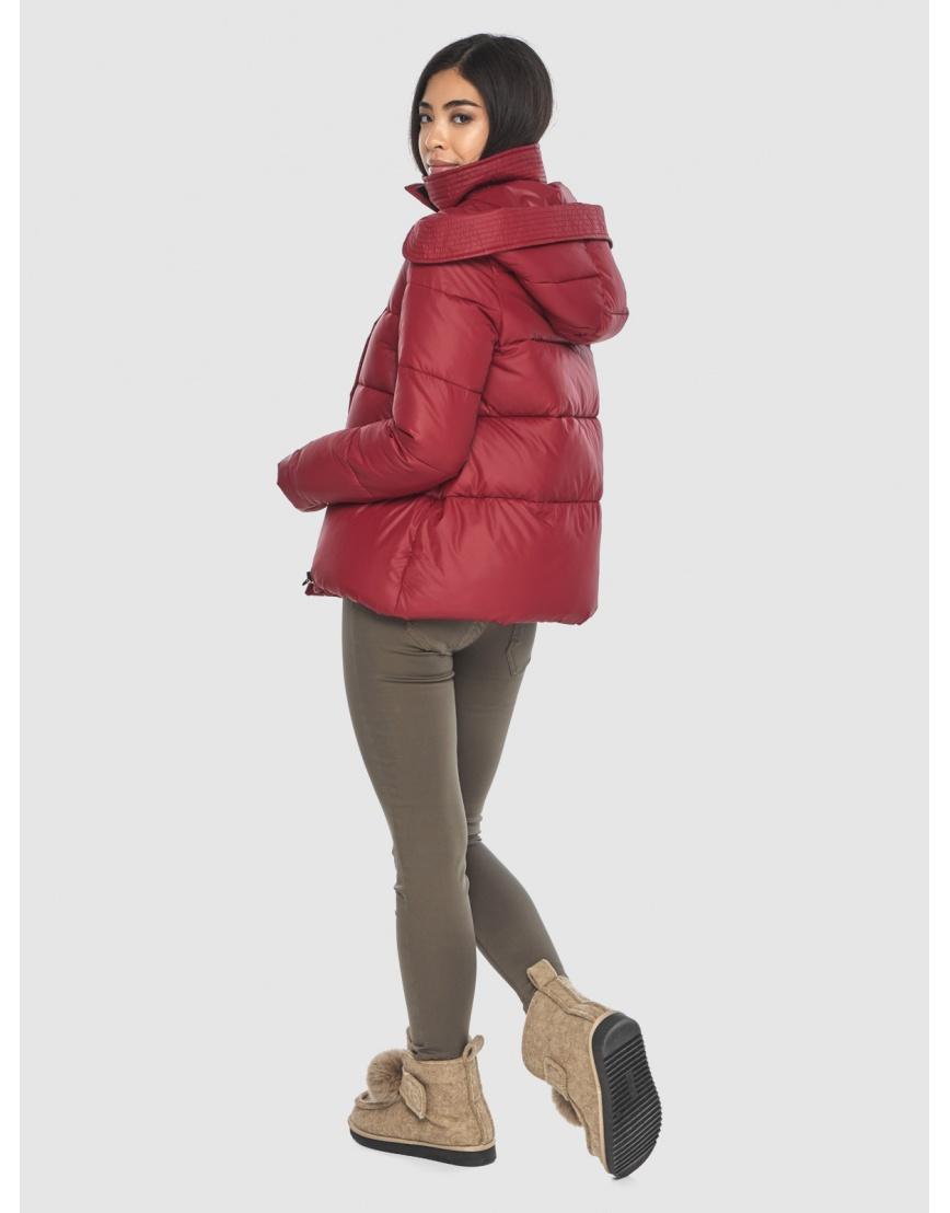 Укороченная подростковая куртка Moc красная зимняя M6981 фото 4