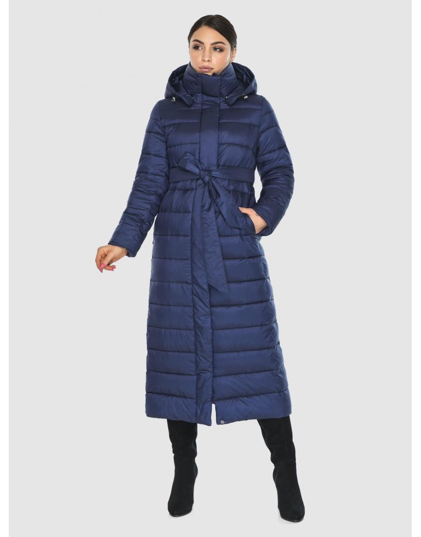 Женская современная синяя куртка Wild Club 524-65 фото 3