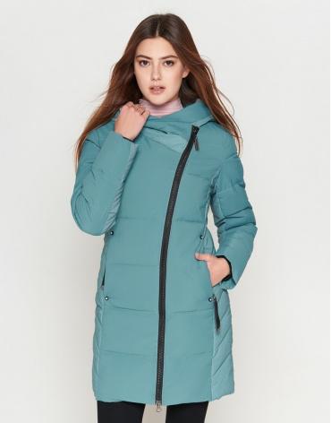 Зимняя женская зеленая куртка модель 25085 фото 1