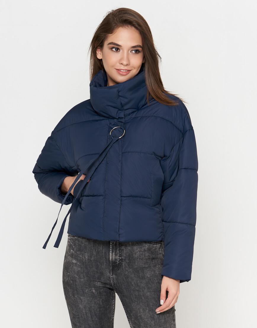 Синяя куртка женская высококачественная модель 25233 фото 2