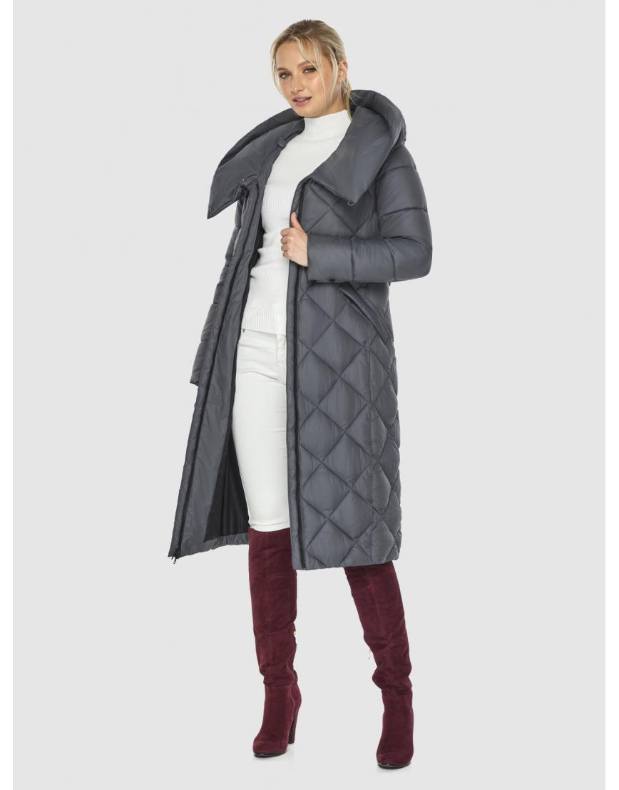 Серая куртка Kiro Tokao стёганая женская 60074 фото 6