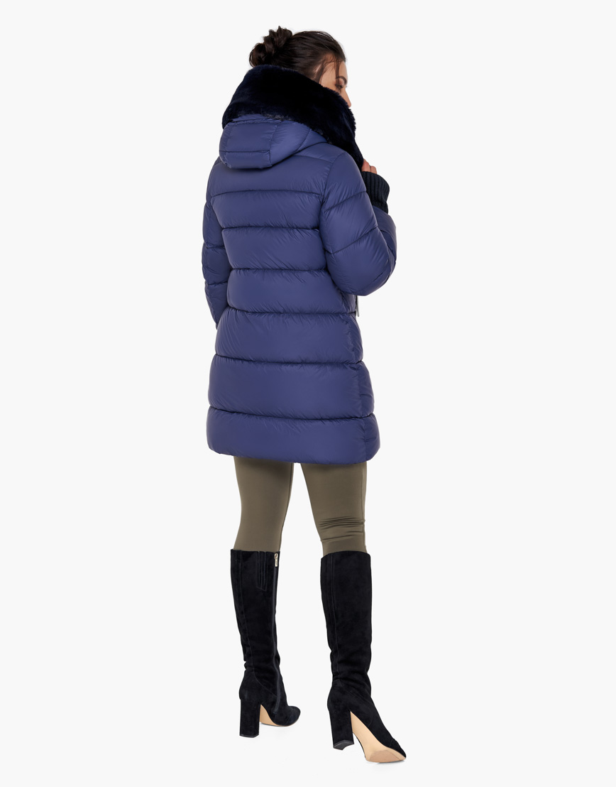 Синий женский воздуховик Braggart на зиму модель 31027 оптом фото 5