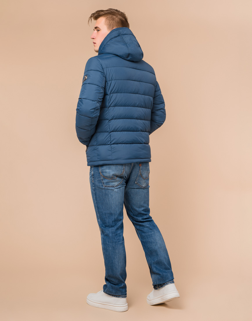 Куртка темно-бирюзовая стильного дизайна модель 36450