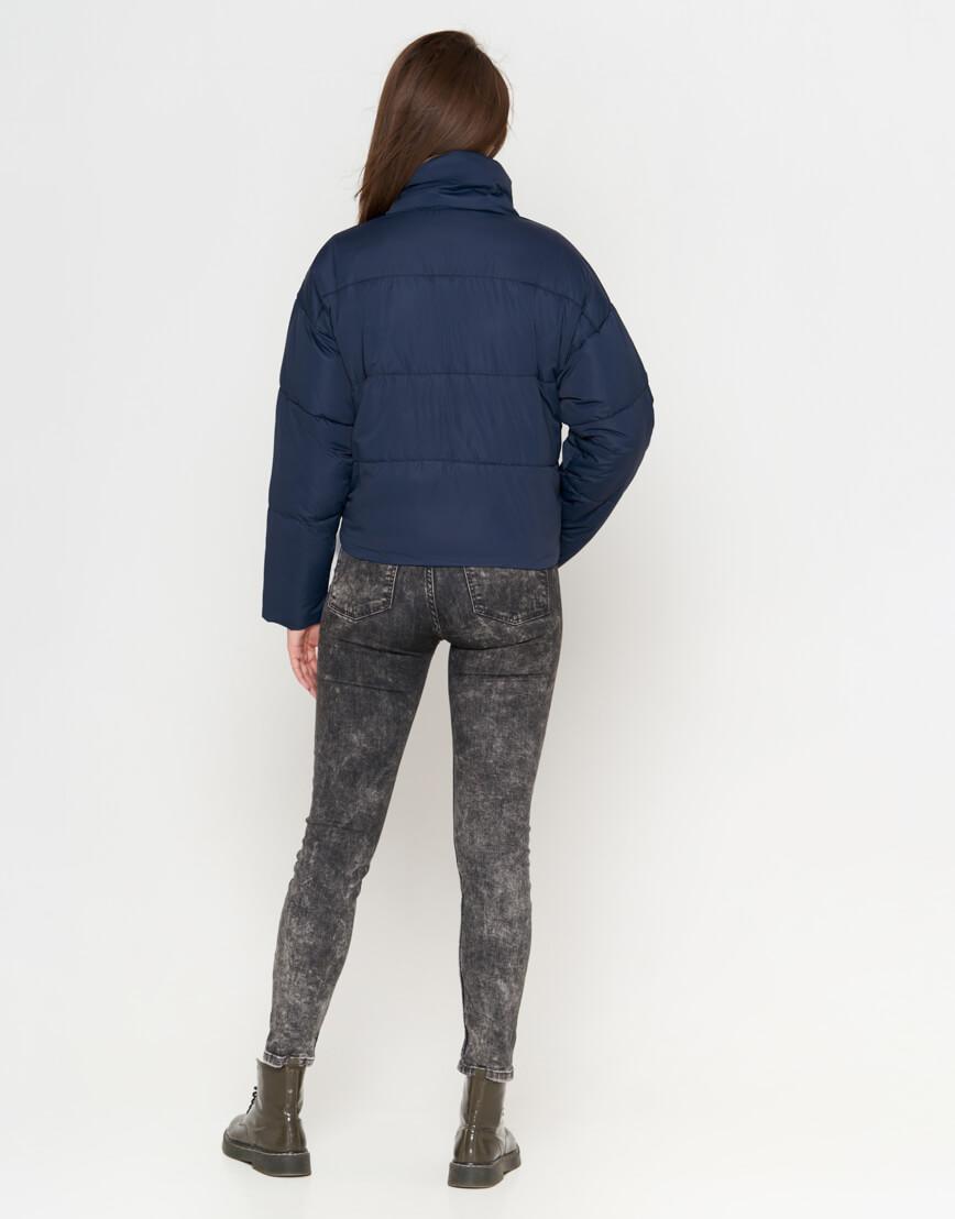 Синяя куртка женская высококачественная модель 25233 фото 3