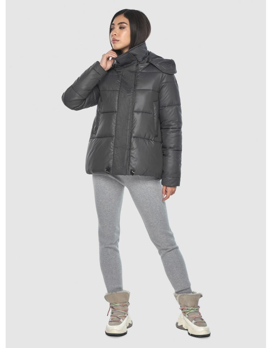 Серая подротковая куртка Moc зимняя с капюшоном M6981 фото 1