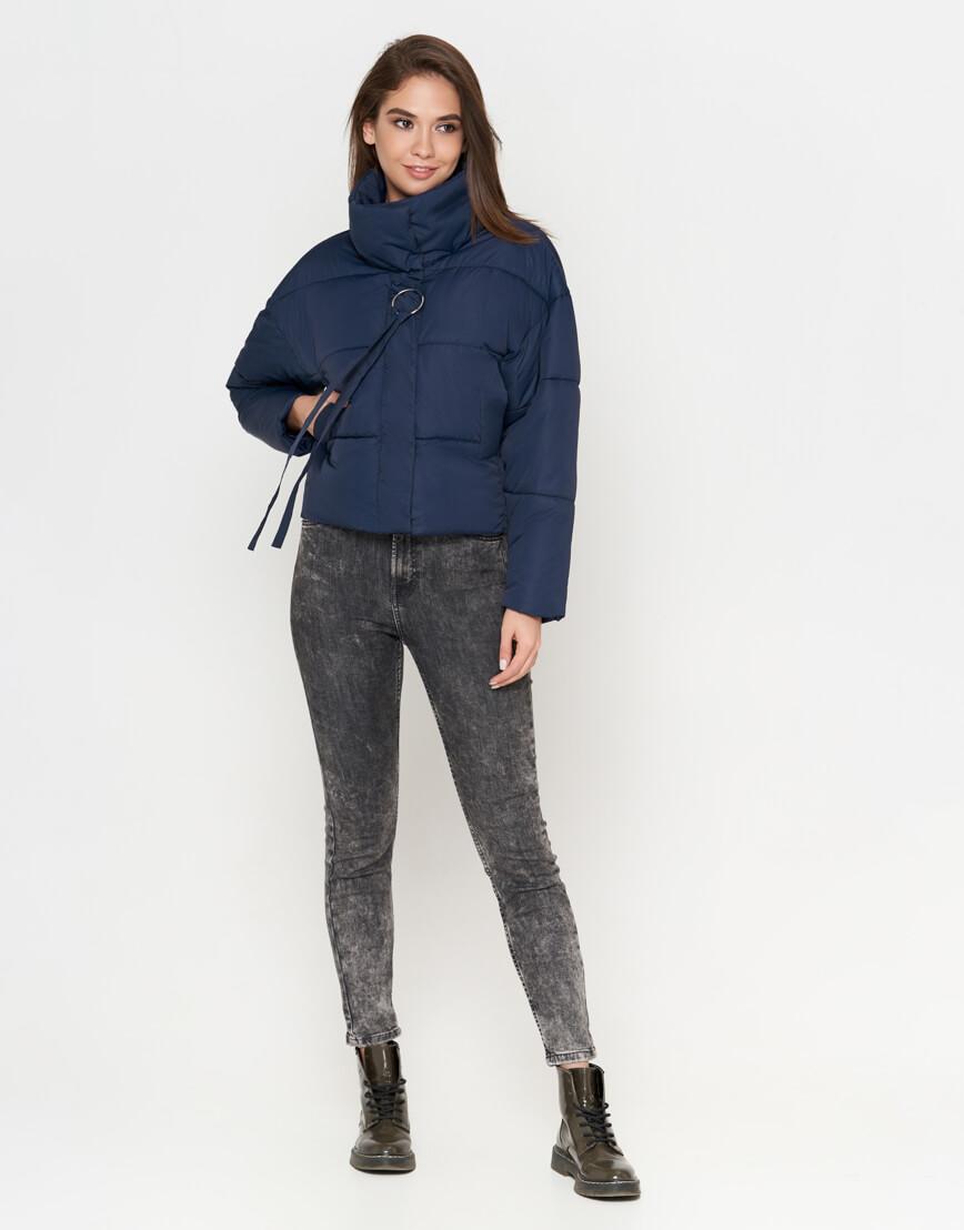 Синяя куртка женская высококачественная модель 25233 фото 1