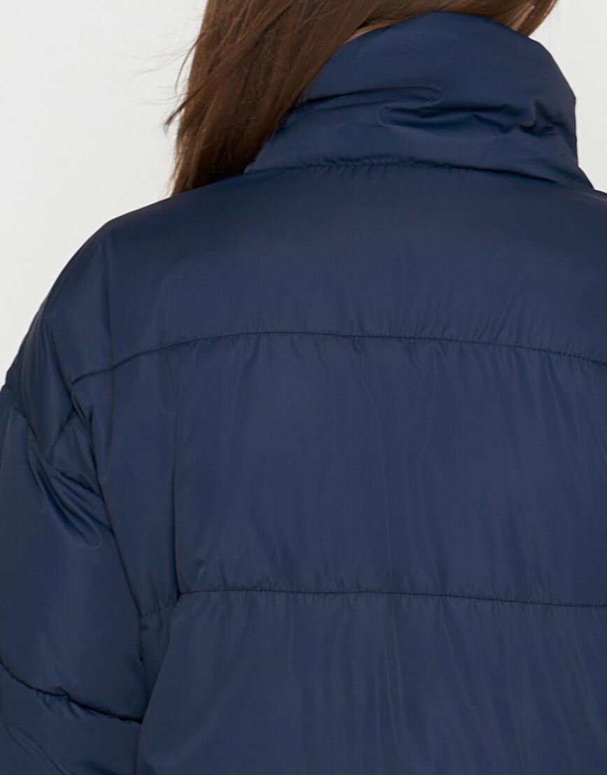 Синяя куртка женская высококачественная модель 25233 фото 5