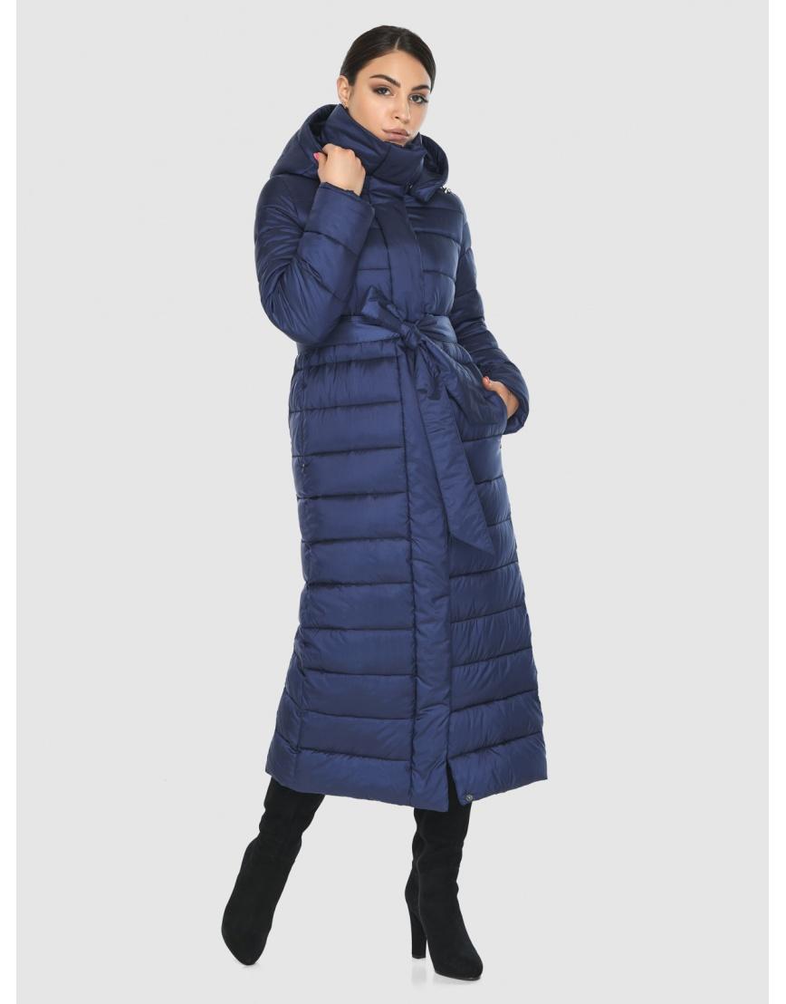 Женская современная синяя куртка Wild Club 524-65 фото 5
