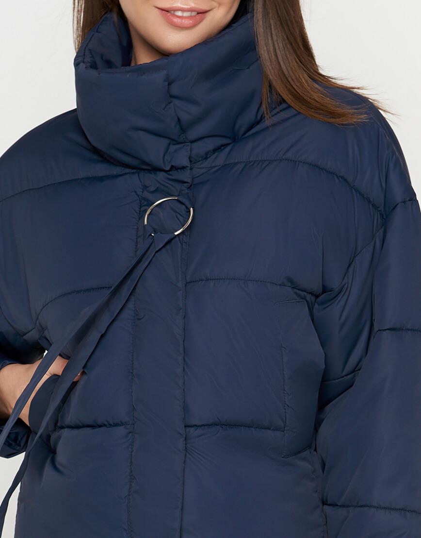 Синяя куртка женская высококачественная модель 25233 фото 4