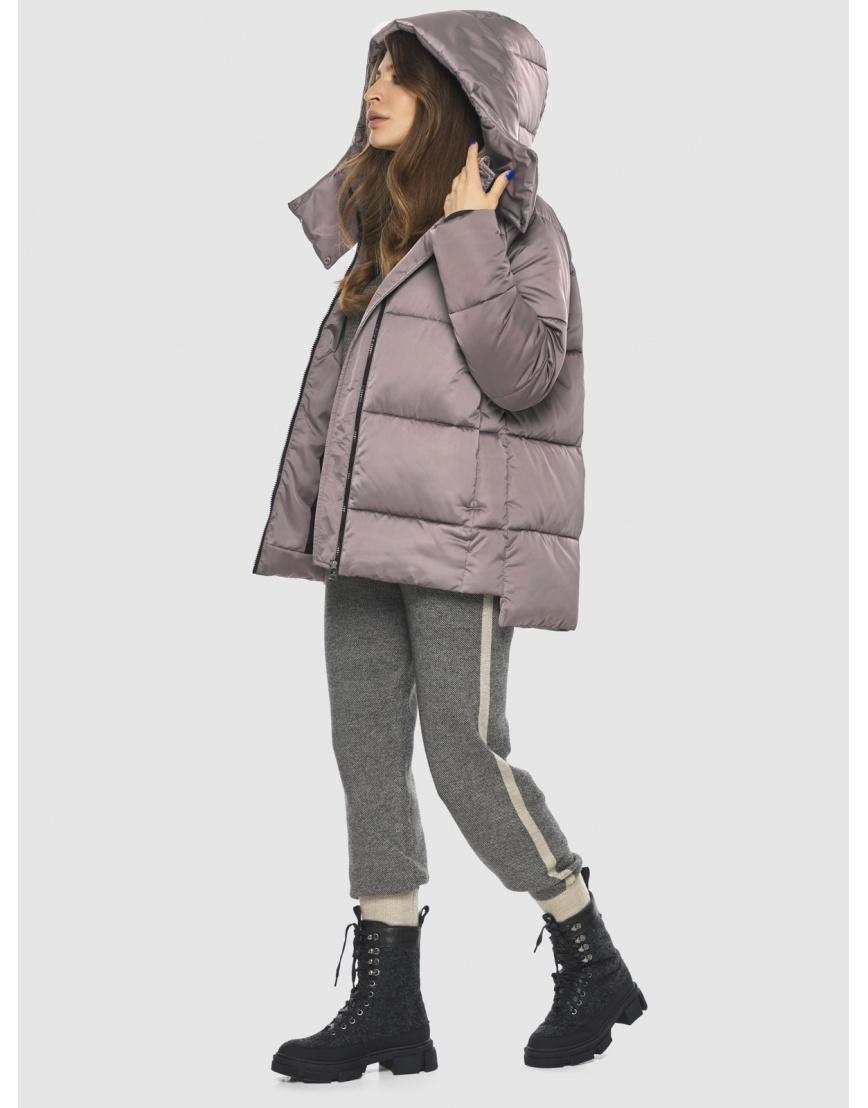 Стильная подростковая куртка Ajento цвет пудра 22430 фото 6