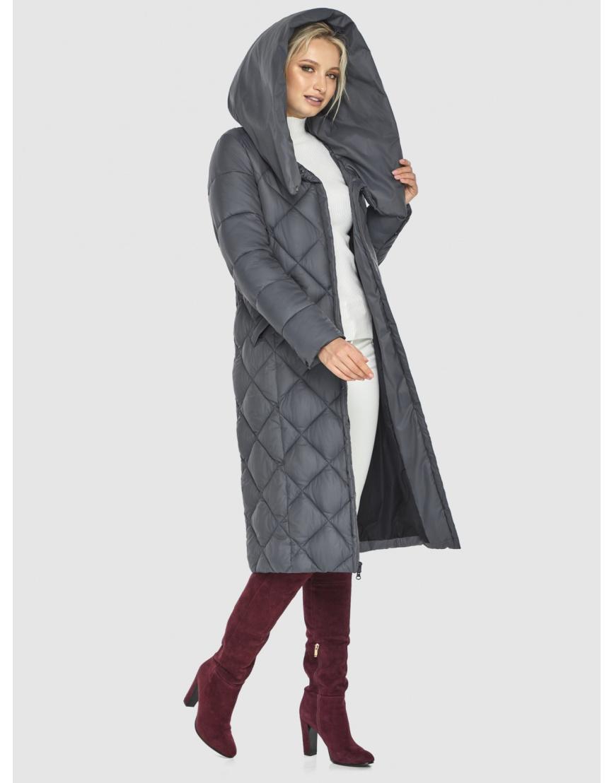 Серая куртка Kiro Tokao стёганая женская 60074 фото 2
