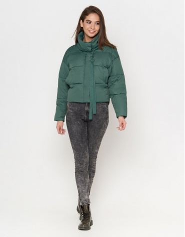 Зеленая женская куртка модель 25233