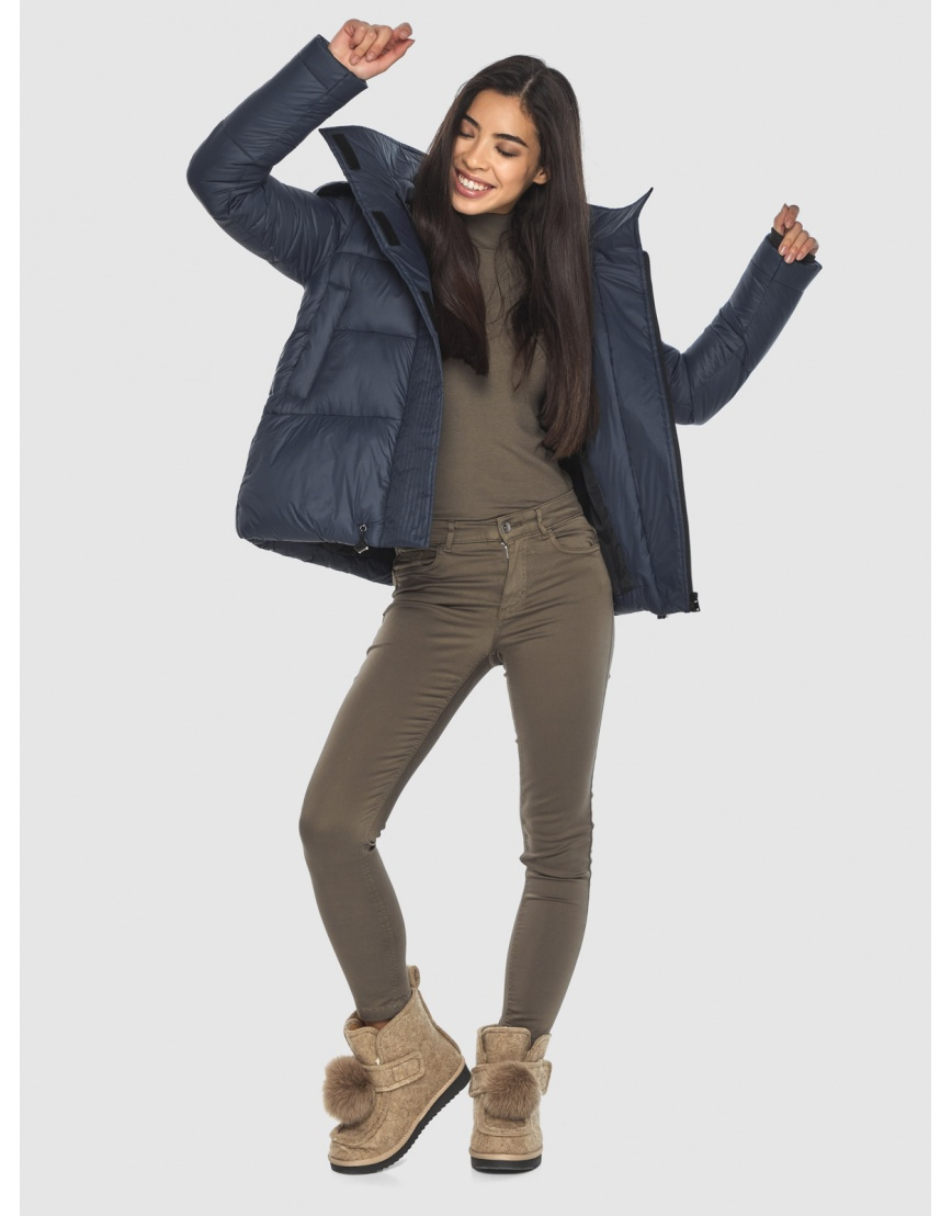 Куртка стильная зимняя Moc на подростка синяя M6981 фото 2