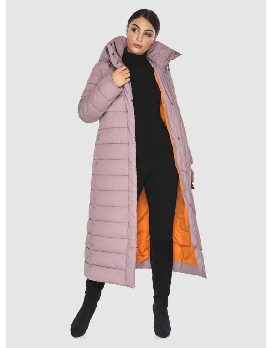 Фирменная женская куртка-пальто Wild Club цвет пудра 524-65 фото 2