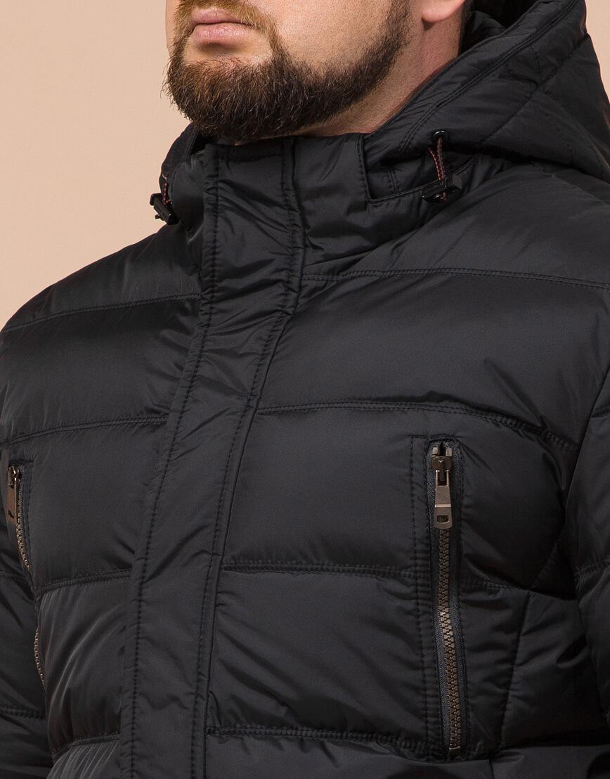 Зимняя куртка большого размера черная для мужчин модель 12952 оптом фото 4