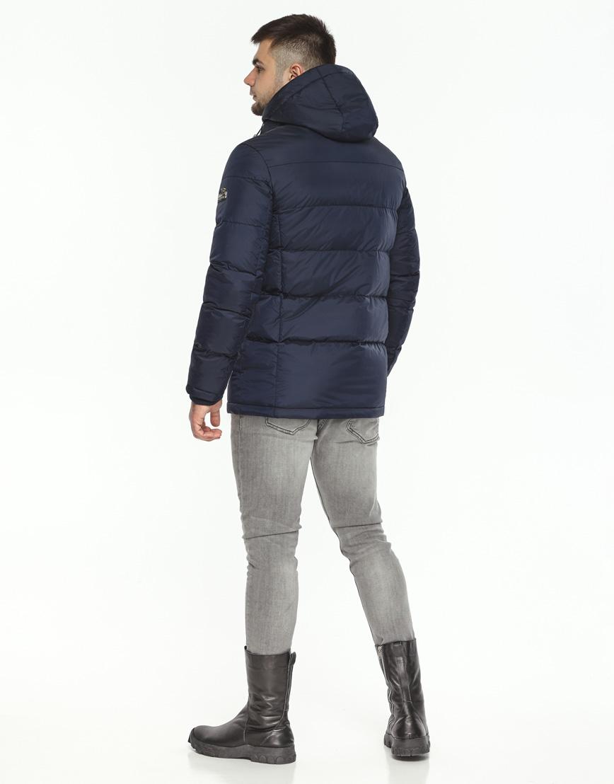 Темно-синяя зимняя куртка комфортная модель 27544 фото 4