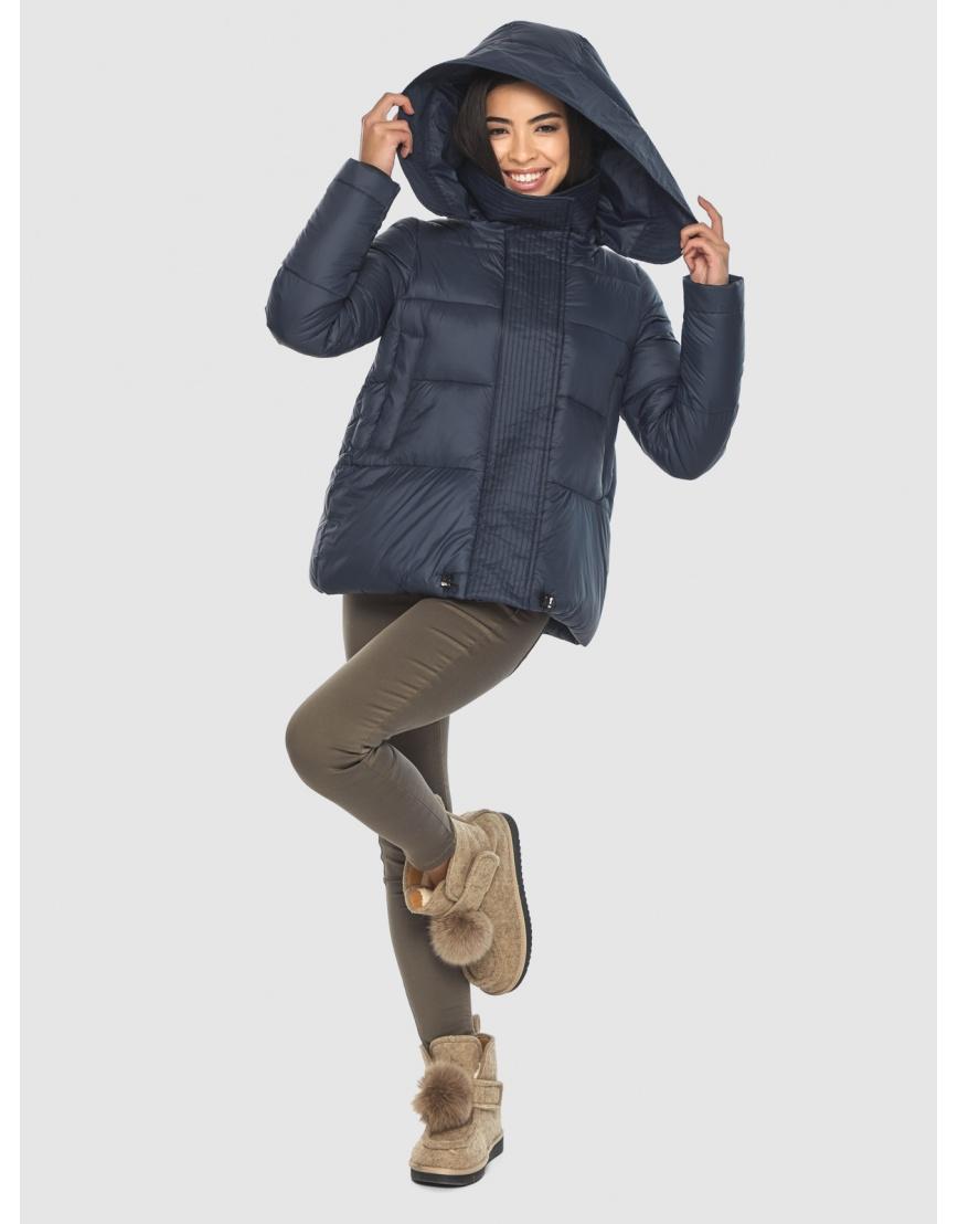 Куртка стильная зимняя Moc на подростка синяя M6981 фото 5