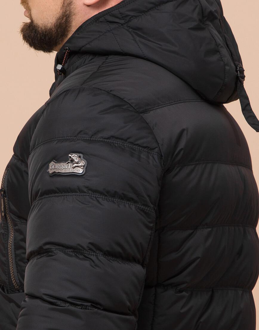 Зимняя куртка большого размера черная для мужчин модель 12952 оптом фото 6