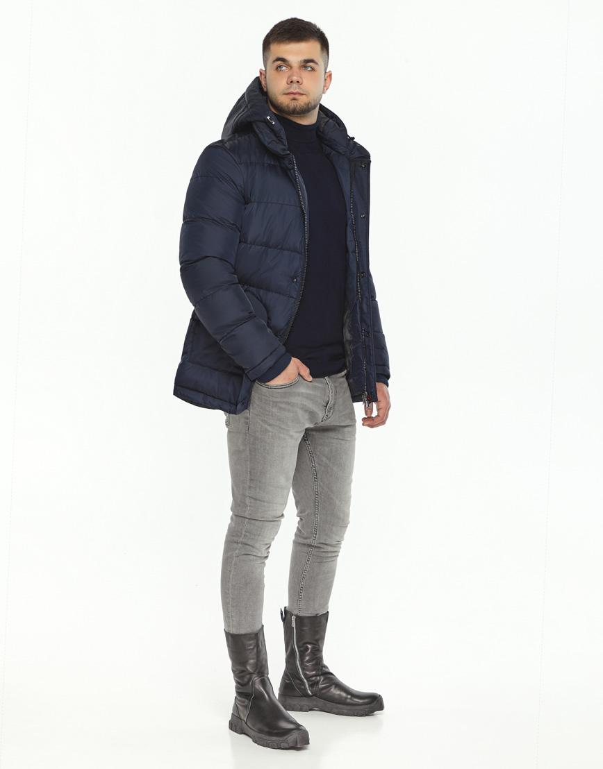 Темно-синяя зимняя куртка комфортная модель 27544 фото 2