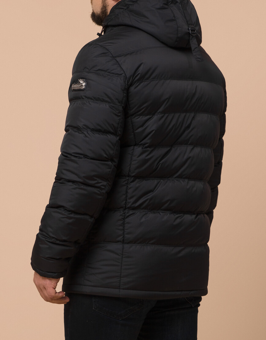 Зимняя куртка большого размера черная для мужчин модель 12952 оптом фото 3
