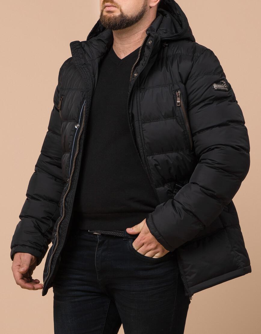 Зимняя куртка большого размера черная для мужчин модель 12952 оптом фото 2