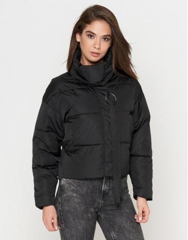 Женская черная брендовая куртка модель 25233