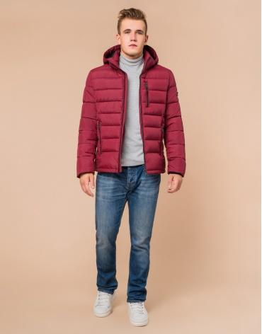 Оригинальная куртка цвет бордовый модель 36450