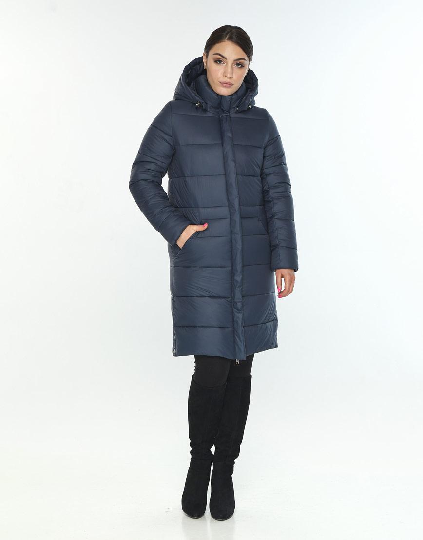 Женская длинная куртка Wild Club синего цвета 584-52 фото 1