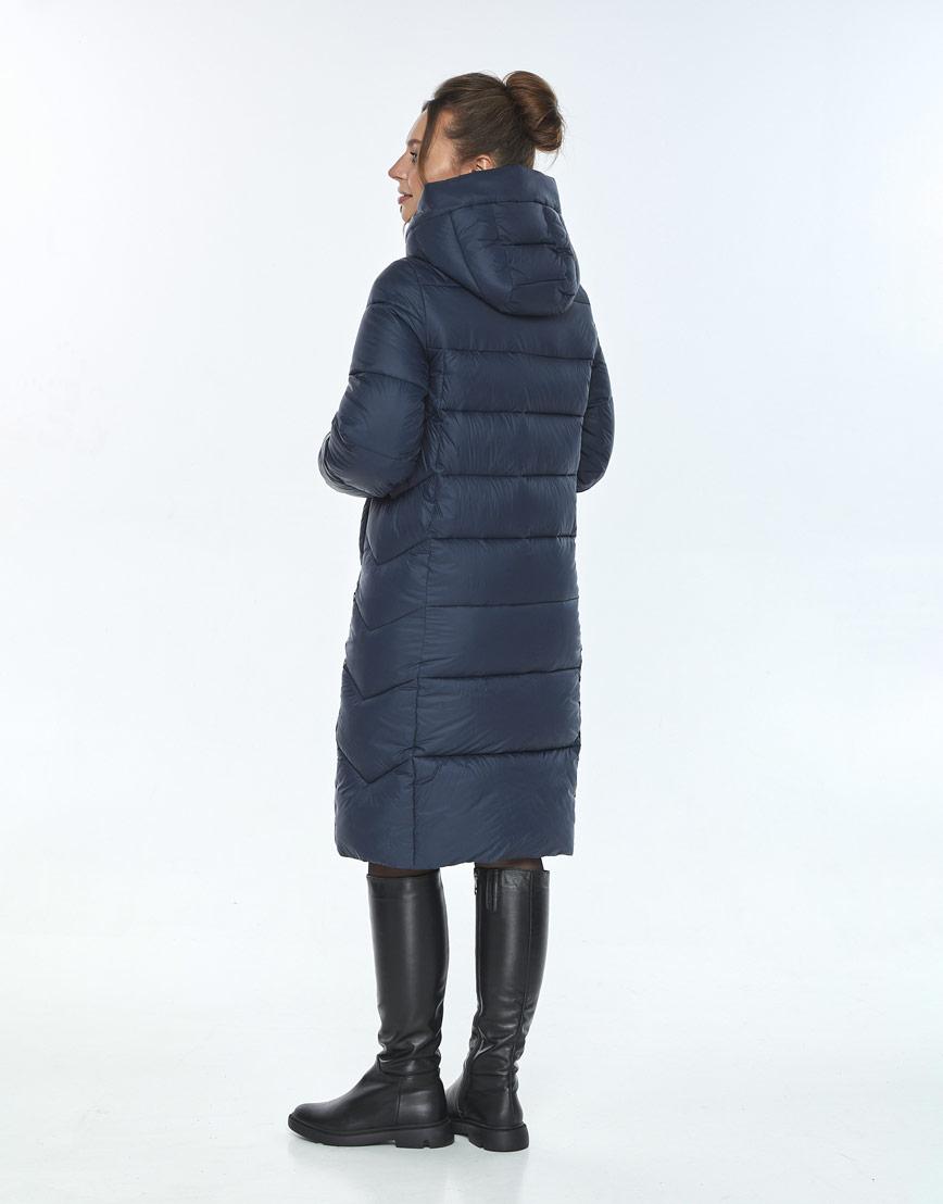 Модная куртка зимняя женская Ajento синего цвета 22975 фото 3
