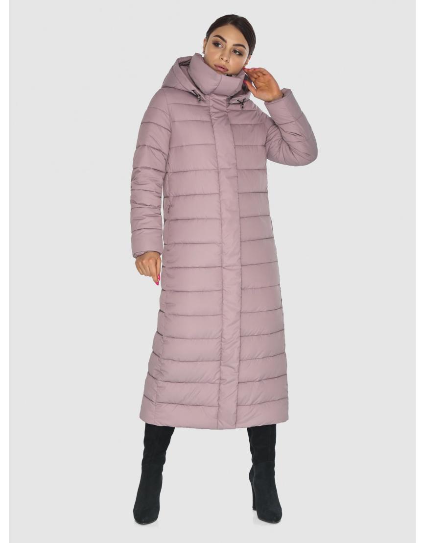 Фирменная женская куртка-пальто Wild Club цвет пудра 524-65 фото 6