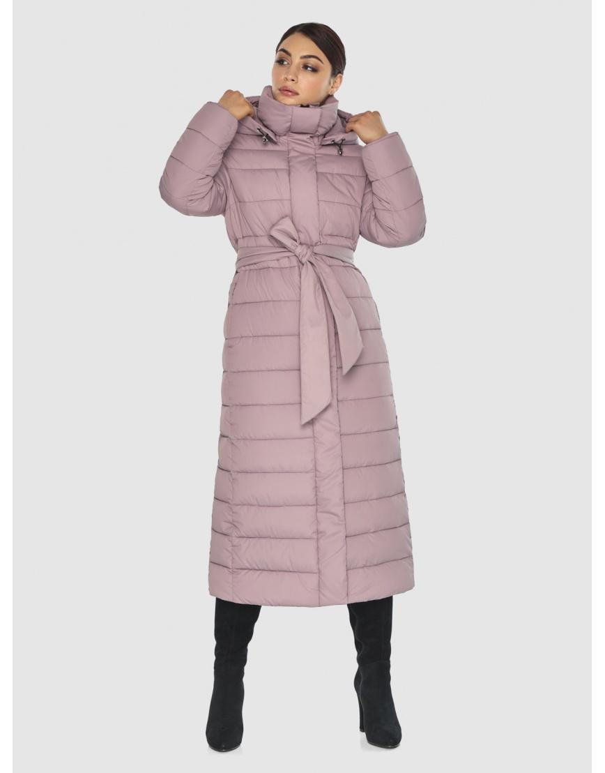 Фирменная женская куртка-пальто Wild Club цвет пудра 524-65 фото 1