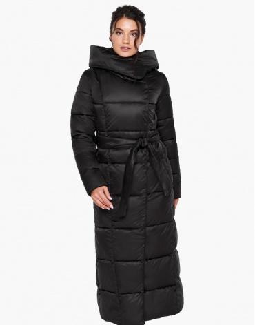 Воздуховик женский черного цвета теплый на зиму модель 31056