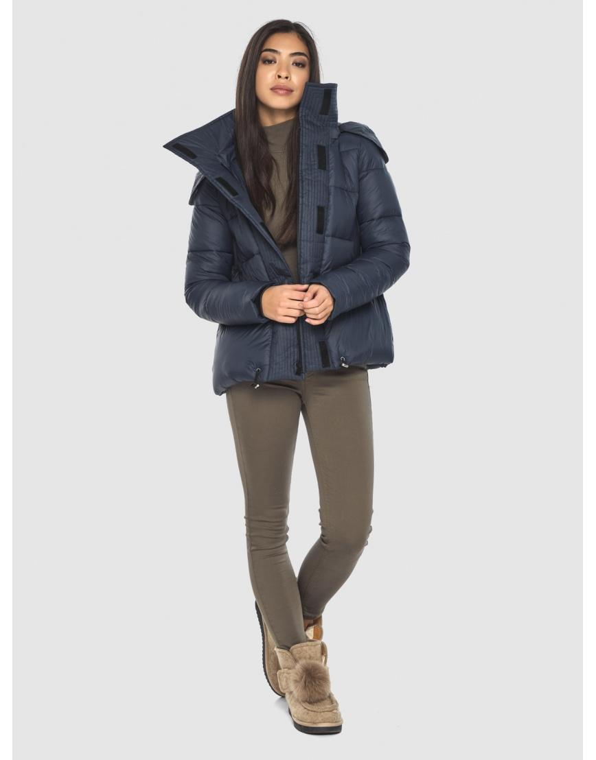 Куртка стильная зимняя Moc на подростка синяя M6981 фото 6