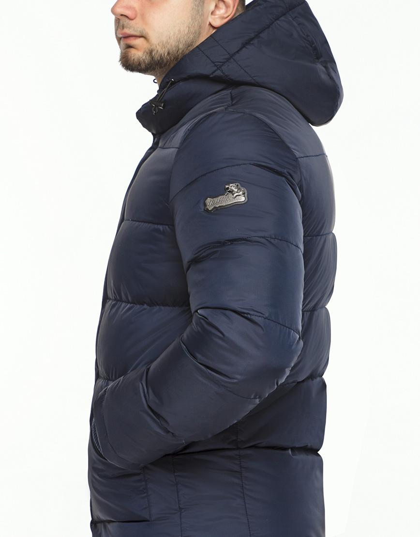 Темно-синяя зимняя куртка комфортная модель 27544 фото 6