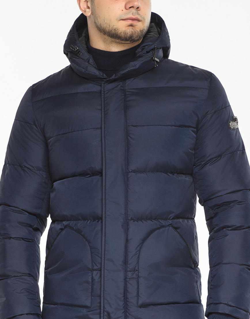 Темно-синяя зимняя куртка комфортная модель 27544 фото 5