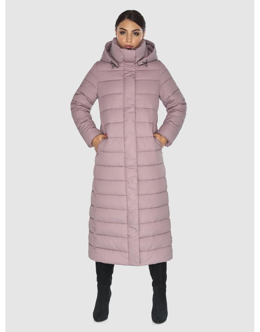 Фирменная женская куртка-пальто Wild Club цвет пудра 524-65 фото 3