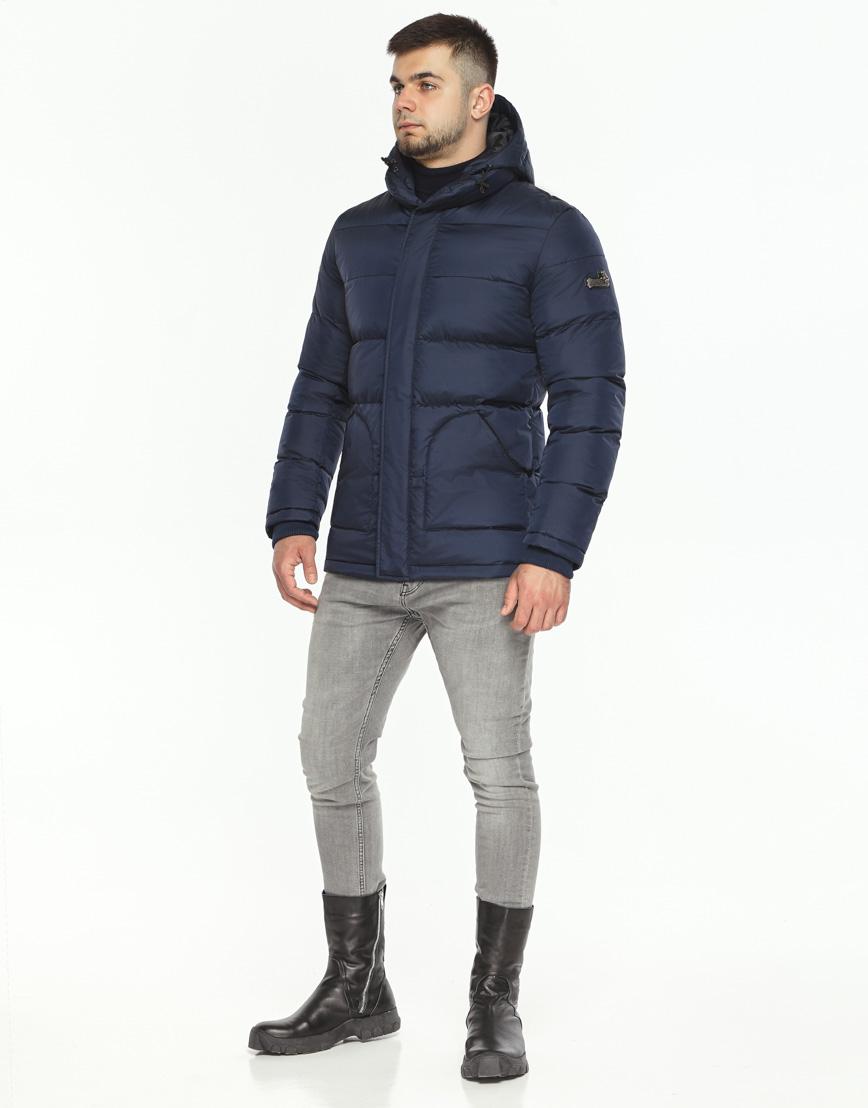 Темно-синяя зимняя куртка комфортная модель 27544 фото 1