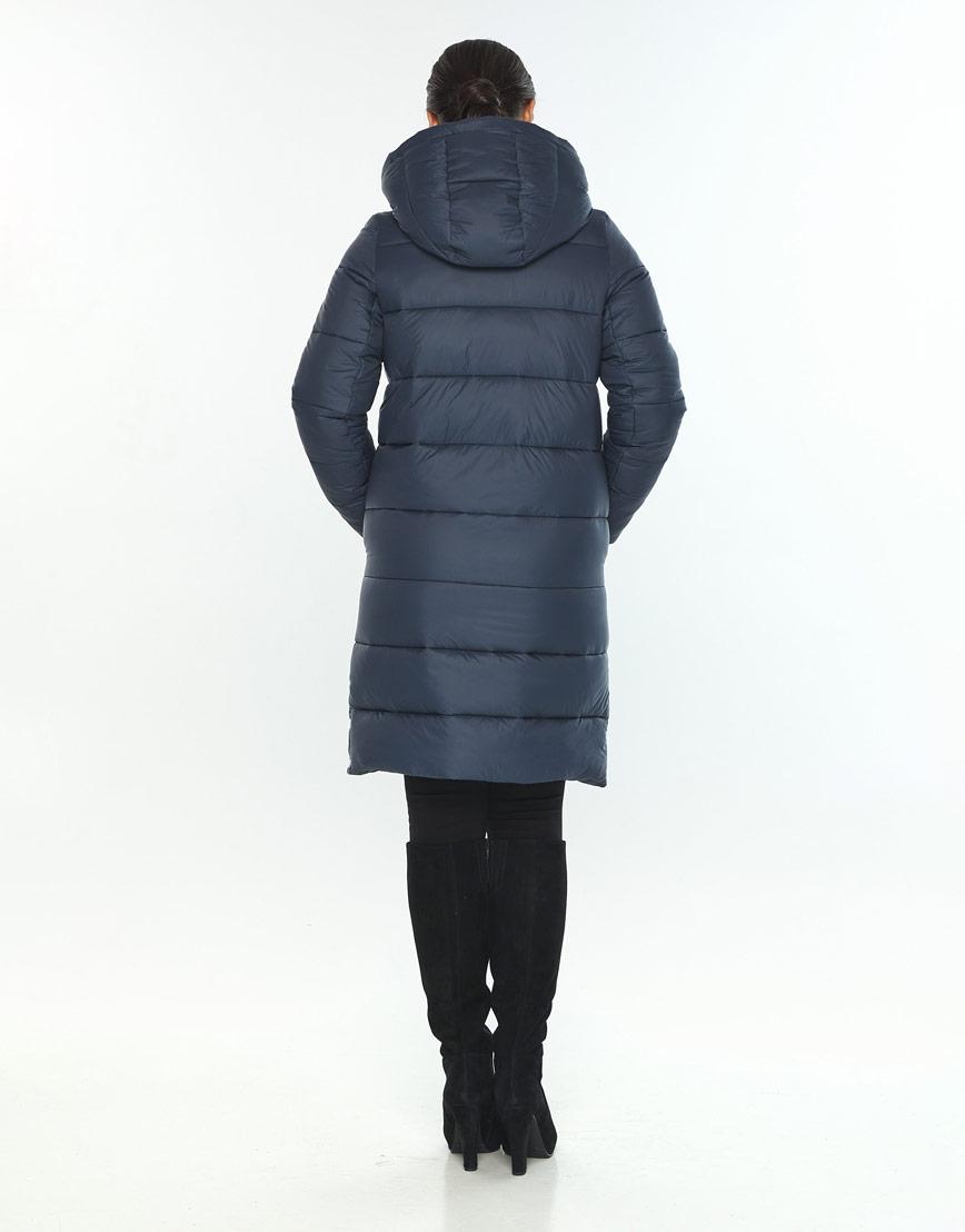 Женская длинная куртка Wild Club синего цвета 584-52 фото 3