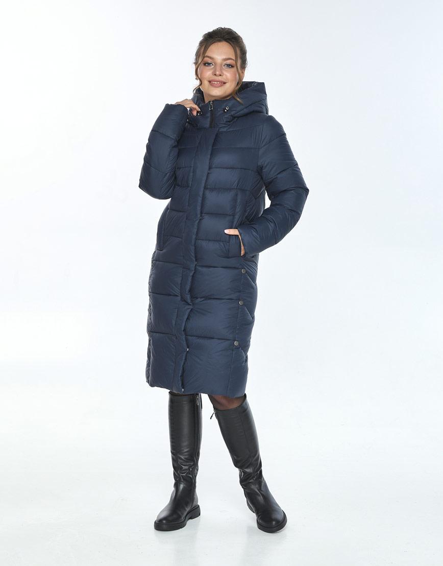 Модная куртка зимняя женская Ajento синего цвета 22975 фото 1