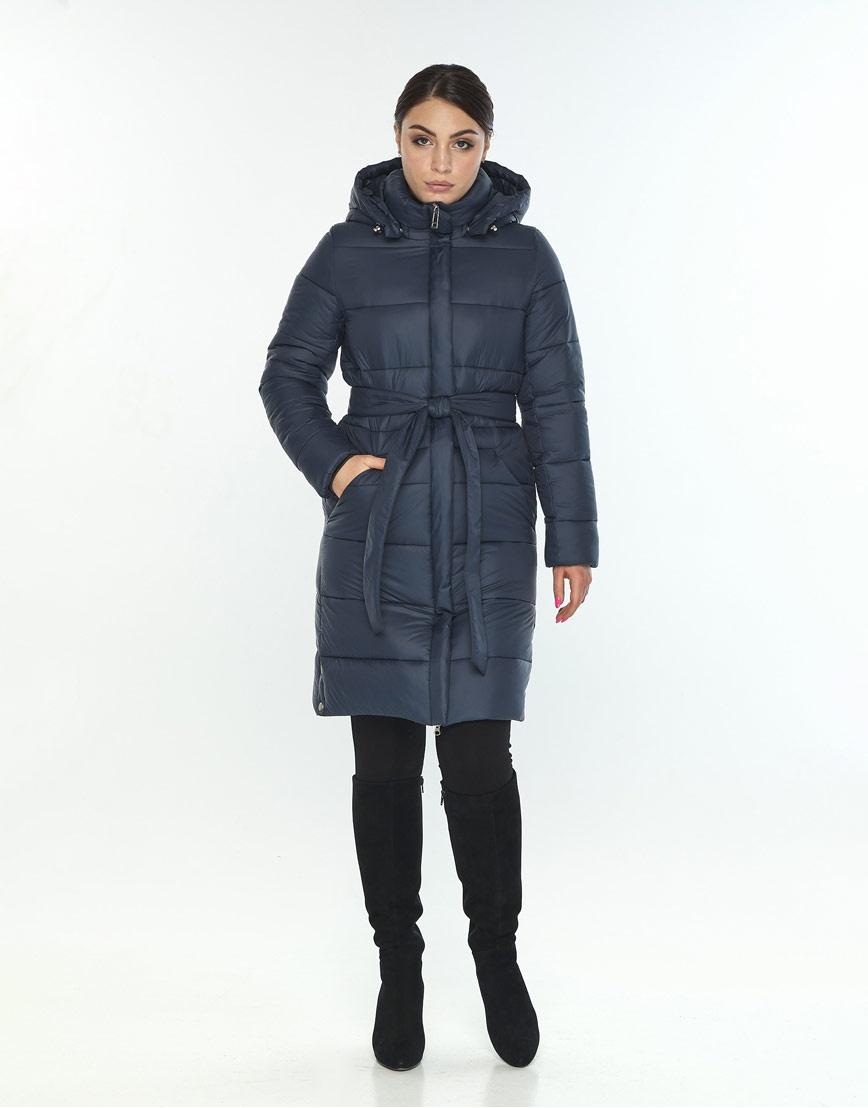 Женская длинная куртка Wild Club синего цвета 584-52 фото 2